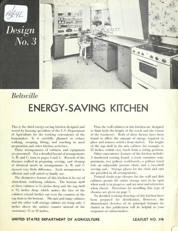 Beltsville Energy-Saving Kitchen: Design Number 3