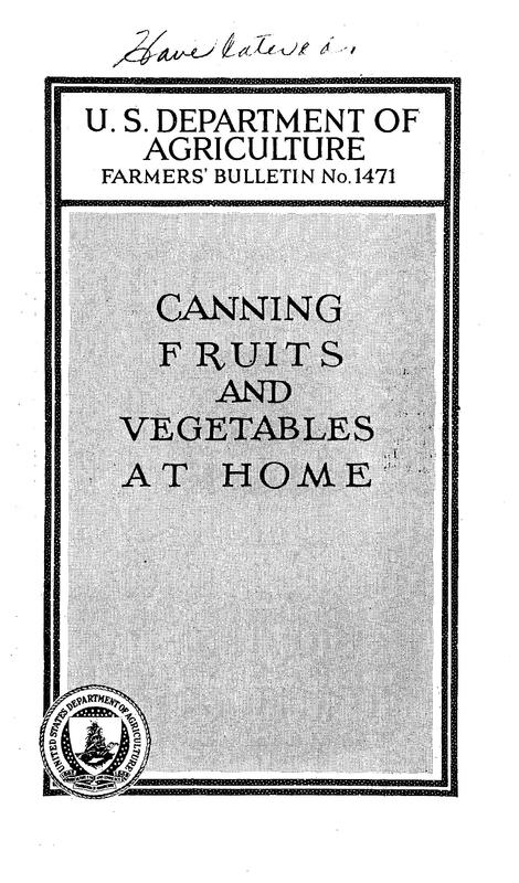 Canning Fruits and Vegetables at Home