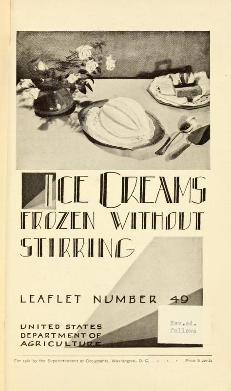 Ice Creams Frozen Without Stirring