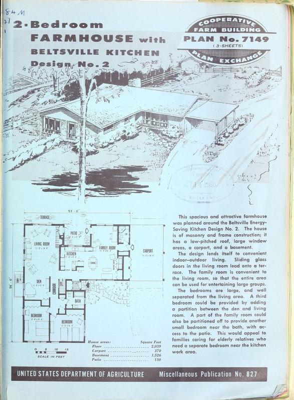 2-Bedroom Farmhouse with Beltsville Kitchen Design No. 2