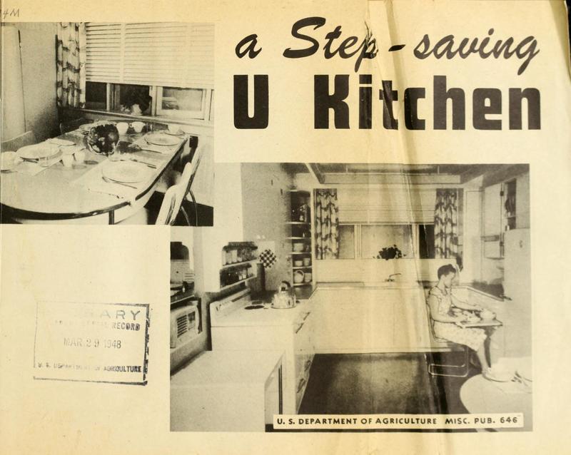 A Step-Saving U Kitchen