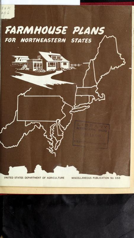 Farmhouse Plans for Northeastern States