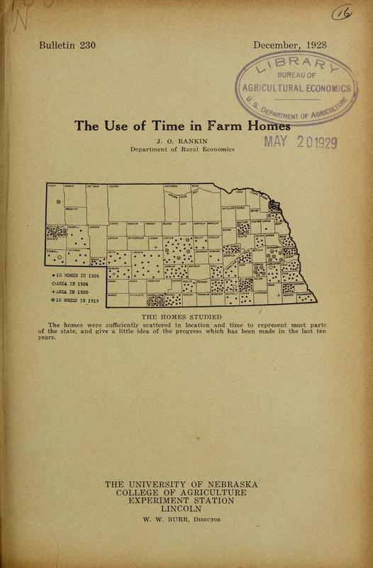 The Use of Time in Farm Homes