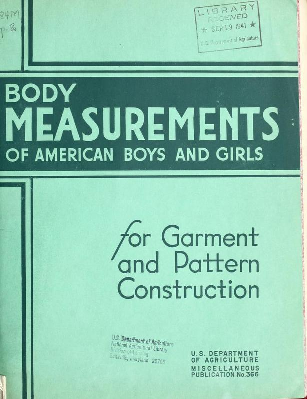 Body Measurements of American Boys and Girls for Garment and Pattern Construction