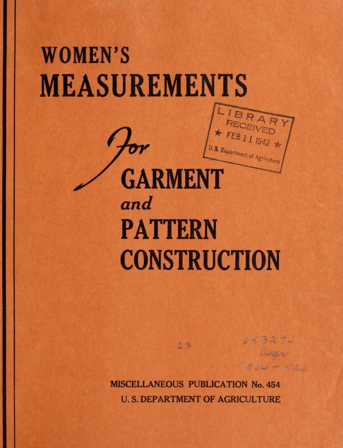 womens measurements for garment and pattern construction