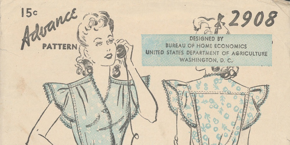 Pattern for Dress Designed by the Bureau of Home Economics
