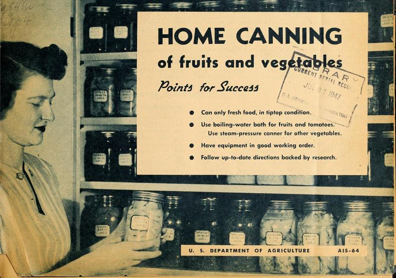 Home Canning of Fruits and Vegetables