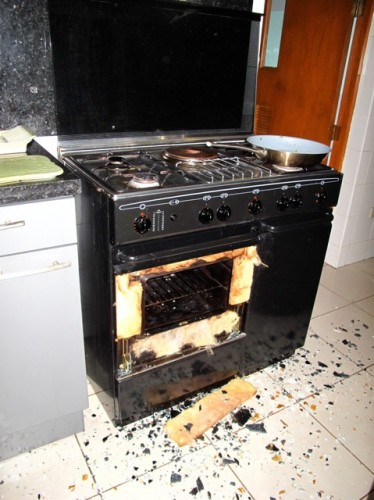How Did We Can The Case Of The Oven Door Shrapnel