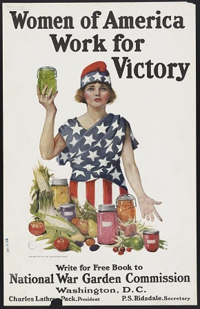 World War I poster Women of America Work for Victory