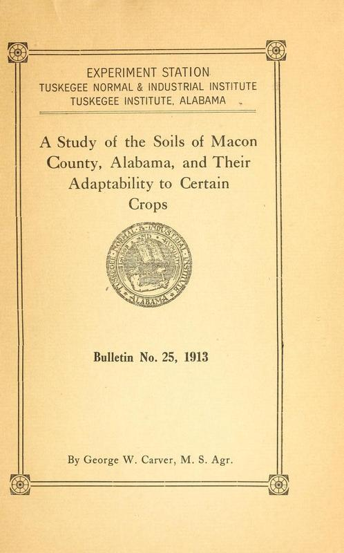 Study of the Soils of Macon County, Alabama, and Their Adaptability to Certain Crops
