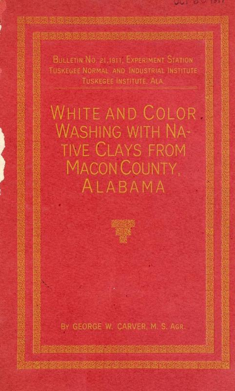 White and Color Washing with Native Clays from Macon County, Alabama