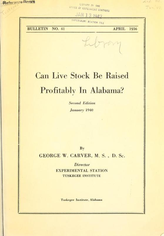 Can Live Stock Be Raised Profitably in Alabama?