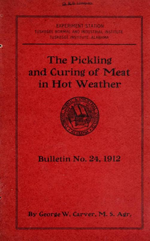 Pickling and Curing of Meat in Hot Weather