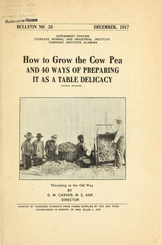 How to Grow the Cow Pea and 40 Ways of Preparing It as a Table Delicacy