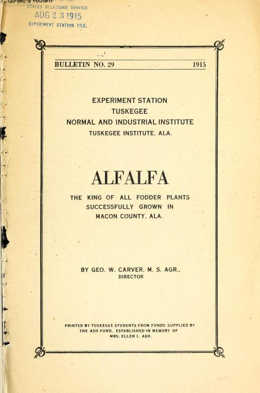 Alfalfa: The King of All Fodder Plants, Successfully Grown in Macon County, Ala.
