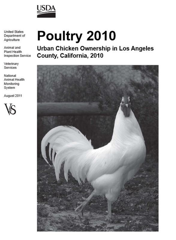 Poultry 2010: Urban Chicken Ownership in Los Angeles County, California 2010