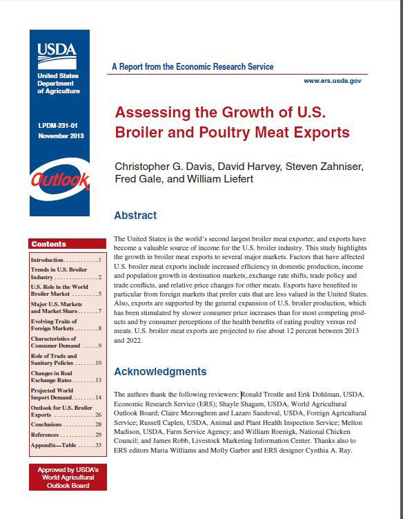 Assessing the Growth of U.S. Broiler and Poultry Meat Exports