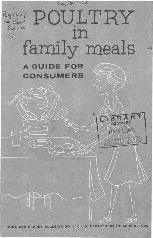 Poultry in Family Meals: A Guide for Consumers