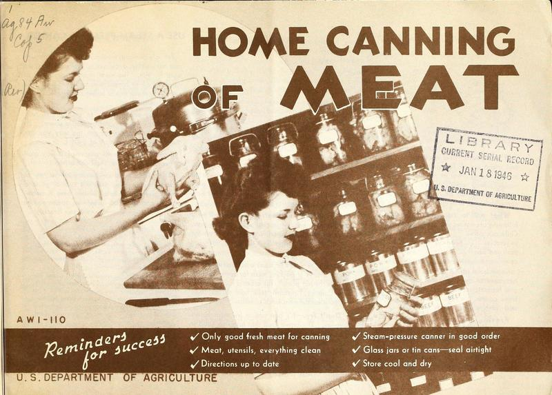 Home Canning of Meat