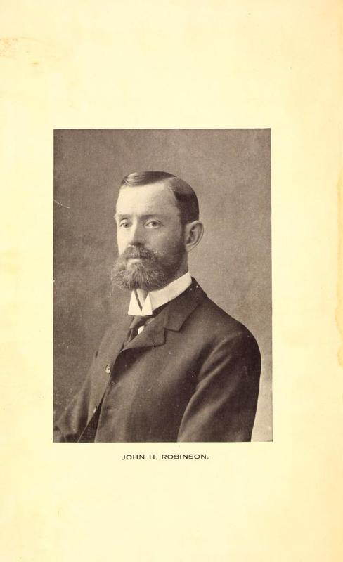Portrait of John Henry Robinson, Editor of Farm-Poultry