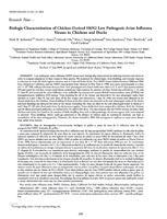 Biologic Characterization of Chicken-Derived H6N2 Low Pathogenic Avian Influenza Viruses in Chickens and Ducks.jpg