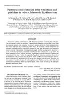 Pasteurization of chicken litter with steam and quicklime to reduce Salmonella Typhimurium.jpg