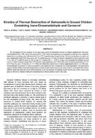 Kinetics of Thermal Destruction of Salmonella in Ground Chicken Containing trans-Cinnamaldehyde and Carvacrol.jpg