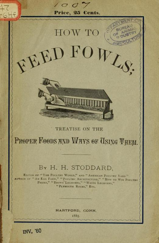 How to Feed Fowls