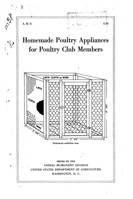 Homemade Poultry Appliances For Poultry Club Members