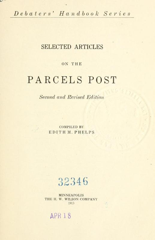 Selected Articles on the Parcels Post