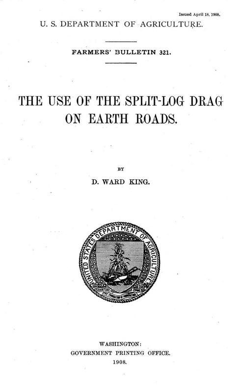 The Use of the Split-Log Drag on Earth Roads