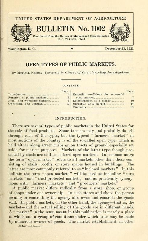 Open Types of Public Markets