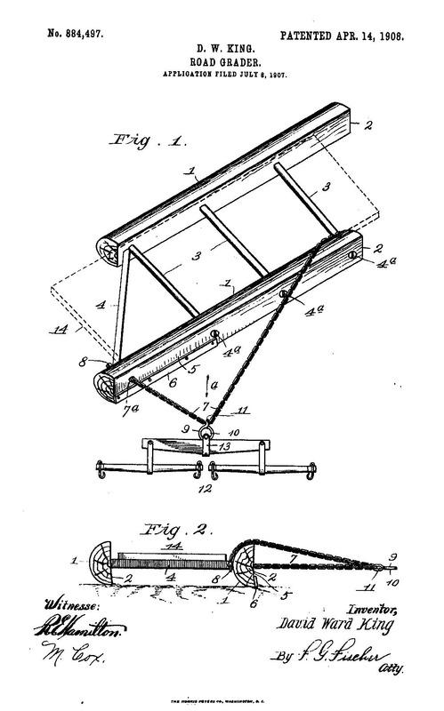 Road Grader Patent 884,497