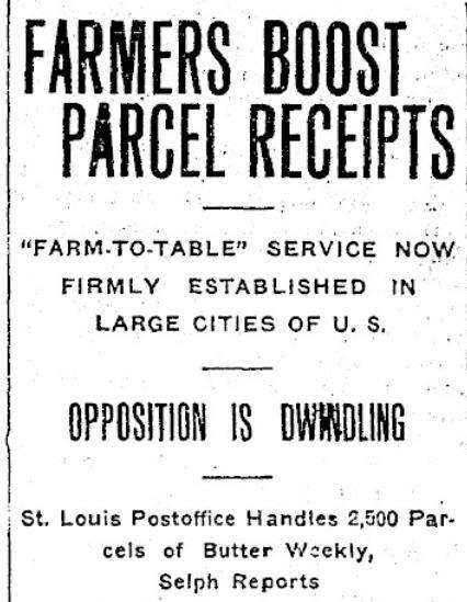 Farmers Boost Postal Receipts