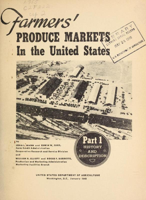 Farmers' Produce Markets in the United States