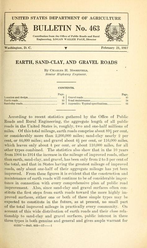 Earth, Sand-Clay, and Gravel Roads