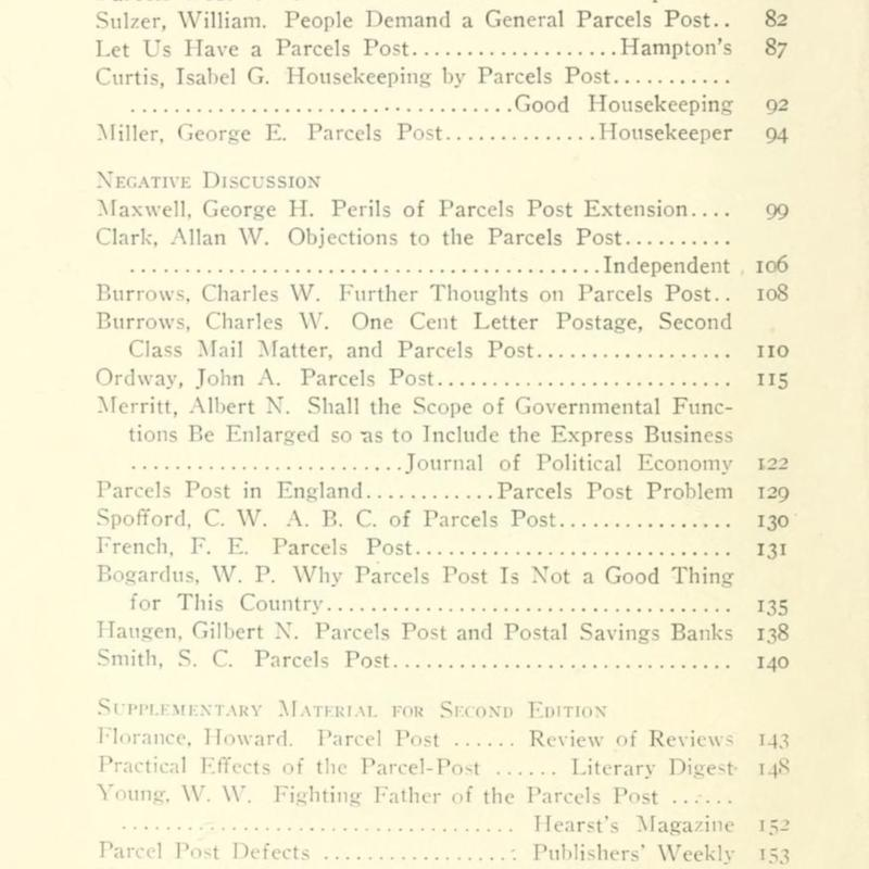 Selected articles on the parcels post TOC 2.jpg