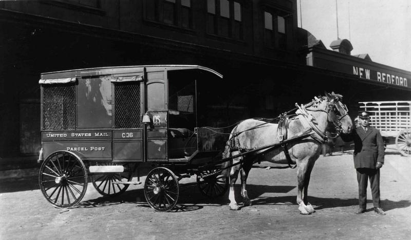 Parcel Post Wagon in New Bedford, Massachusetts.jpg