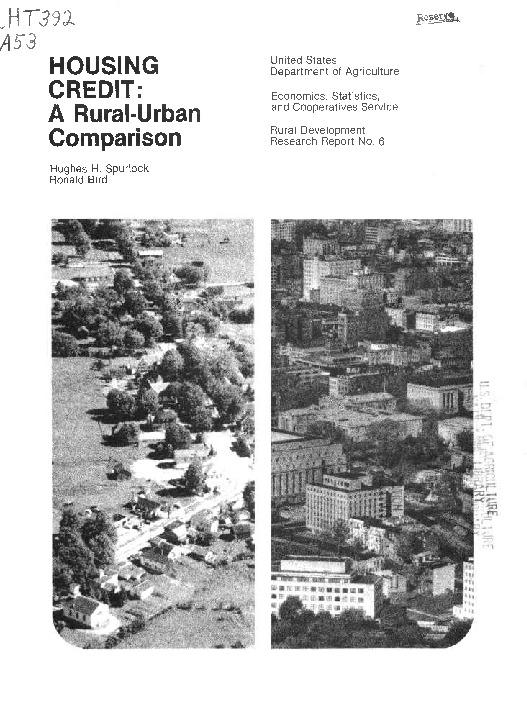 Housing credit : a rural-urban comparison