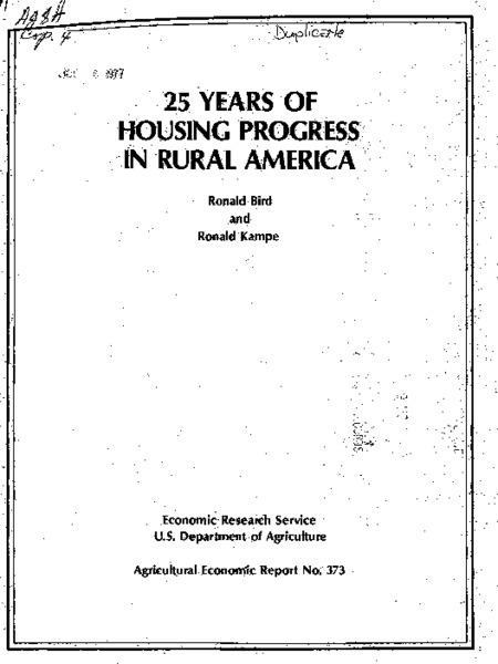 25 years of housing progress in rural America