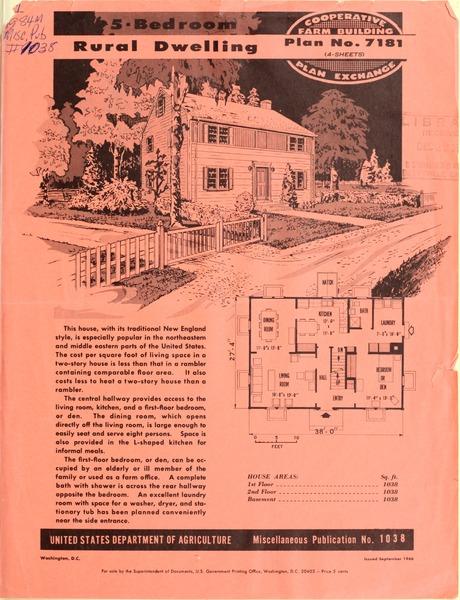 Plan No. 7181: 5-Bedroom Rural Dwelling