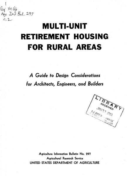 Multi-unit retirement housing for rural areas a guide to design considerations for architects, engineers, and builders.jpg