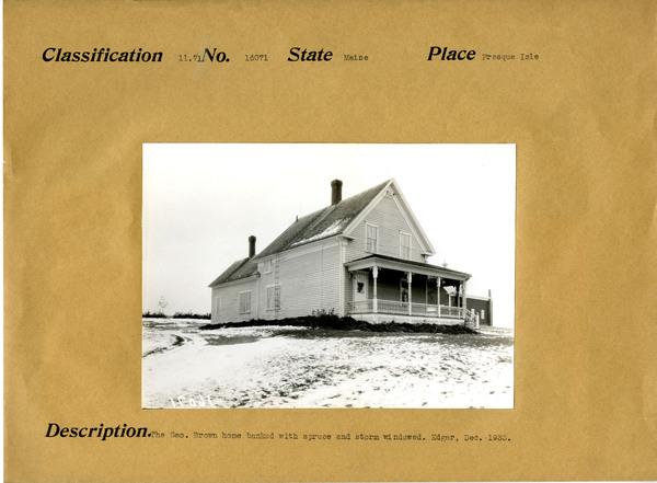 Geo Brown Home. Presque Isle, Maine