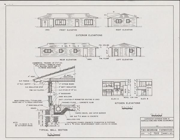 Plan 7213: Two-Bedroom Farmhouse Blueprints