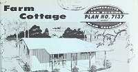 Cover of farm cottage home plan.