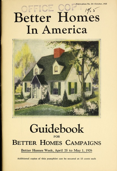 Cover of Better Homes in America.