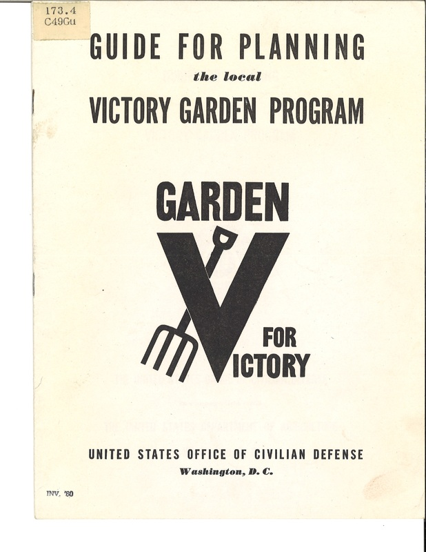 Guide For Planning The Local Victory Garden Program