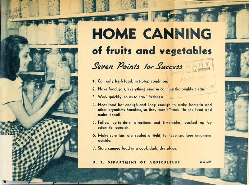Home Canning of Fruits and Vegetables: Seven Points For Success