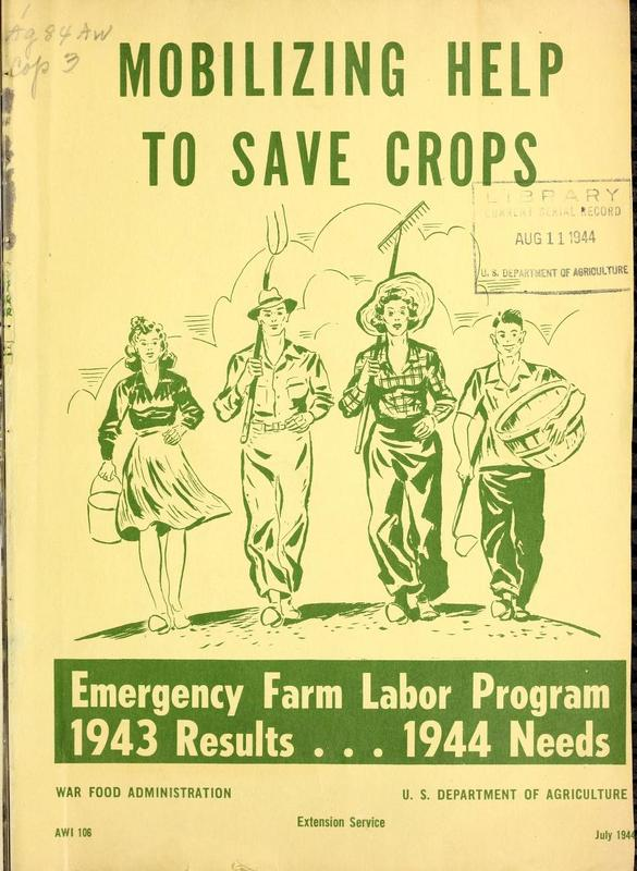 Poster of Mobilizing Help to Save Crops