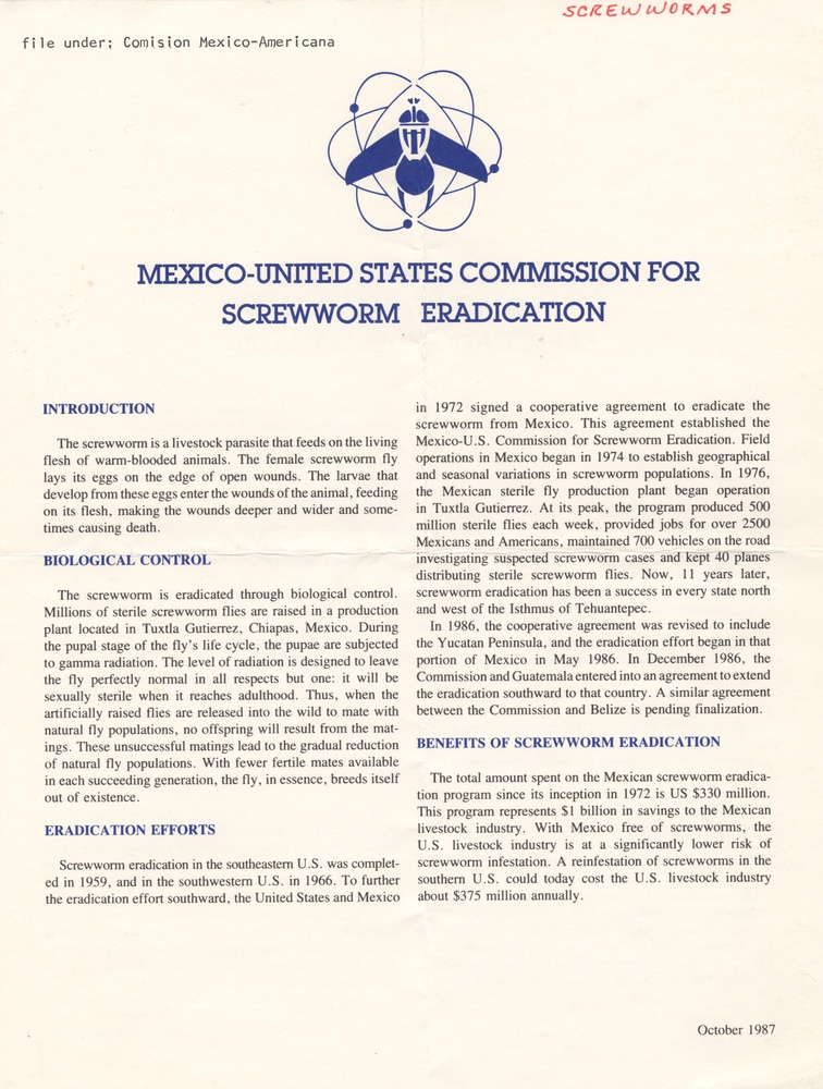 Mexico-United States Commission for Screwworm Eradication
